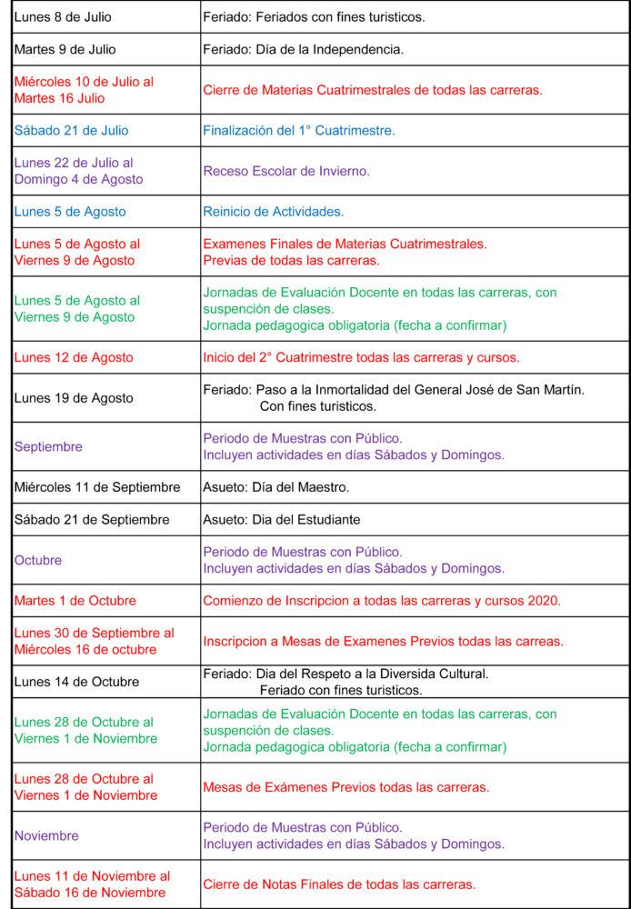 Calendario Escolar 2020 Caba.Calendario Academico 2019 Escuela Metropolitana De Arte